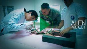 Análisis de cuerpo radiografías momificado