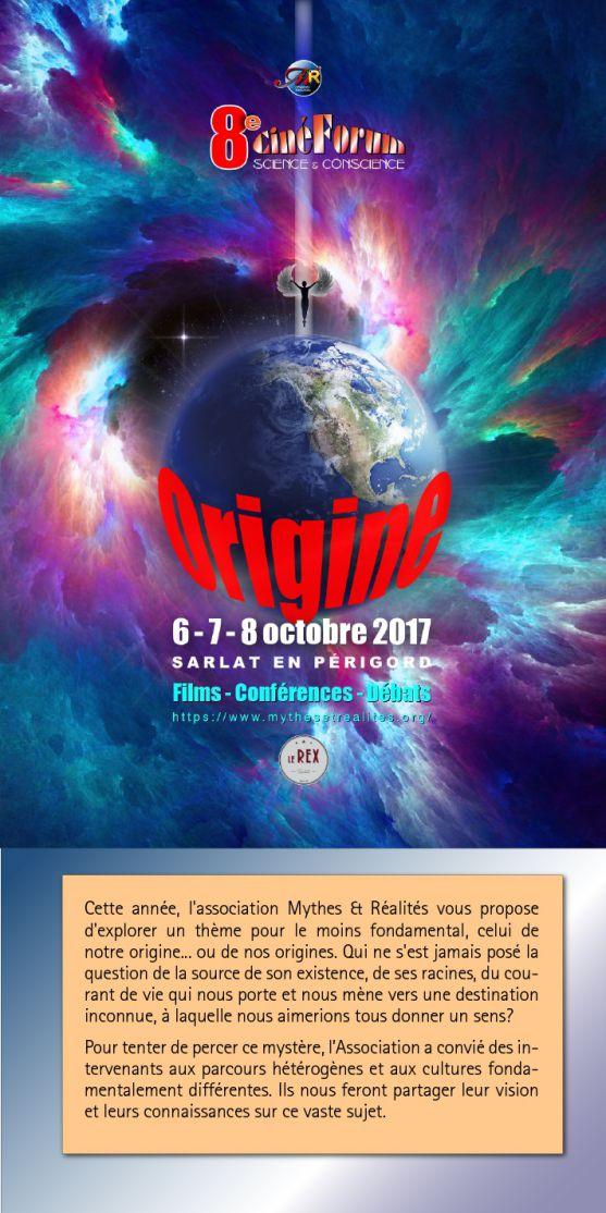 Conférence au Ciné-forum Sarlat 7 octobre 15 heure
