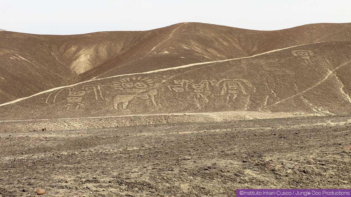 Géoglyphe à Palpa, Pérou