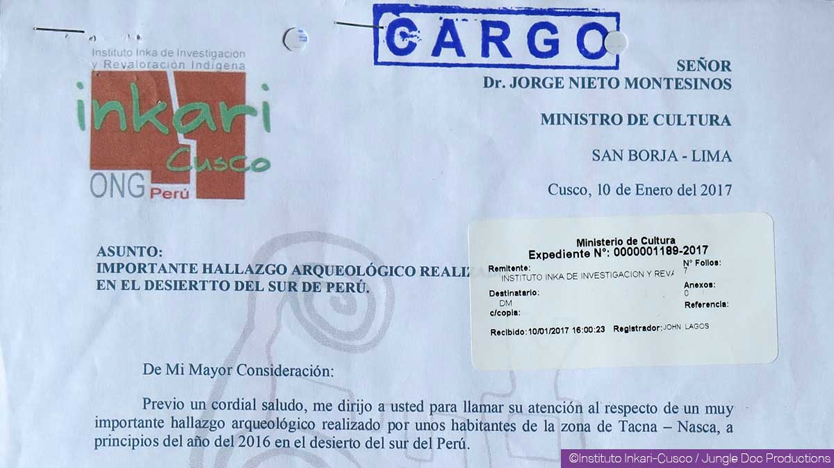 Letter addressed to the Peruvian authorities January 10th, 2017
