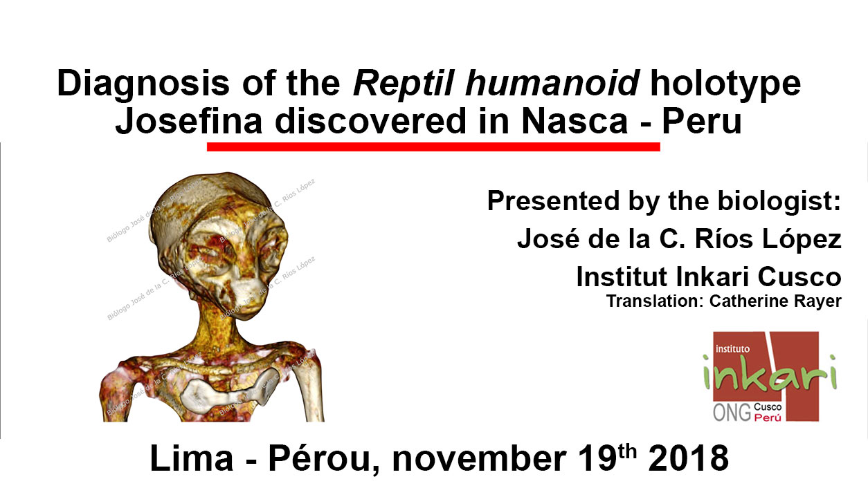 Diagnosis of the Josefina Humanoid Reptile holotype