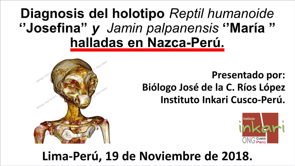 Diagnóstico del holotipo de Reptil Humanoide Josefina.