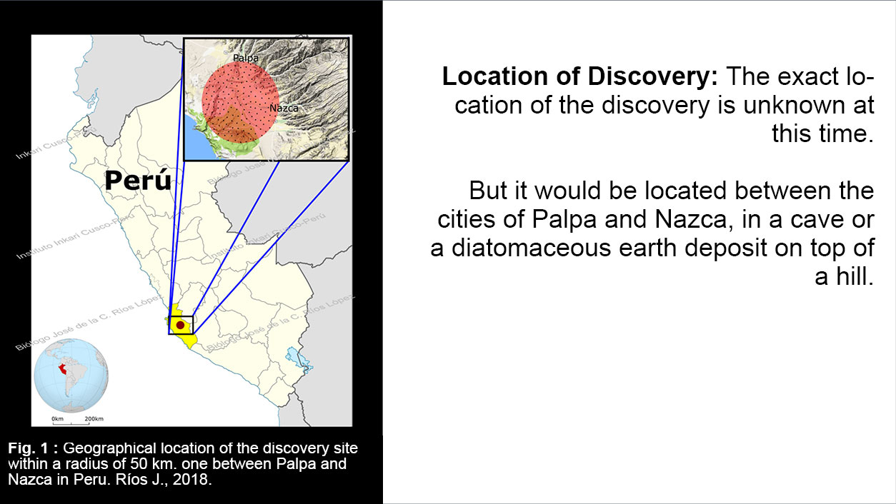 "Location of the discovery of ""Mummies of Nasca"""